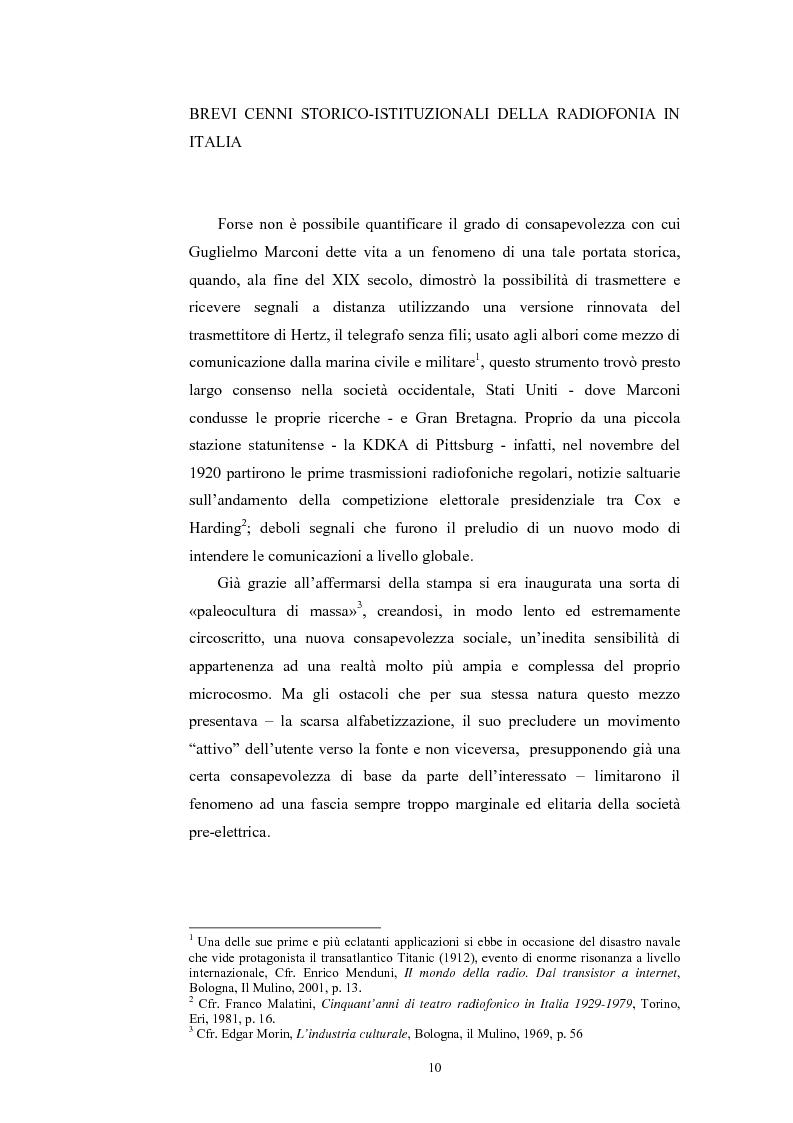 Anteprima della tesi: La poesia dello spazio. Il teatro radiofonico in Italia (1924-1974), Pagina 6