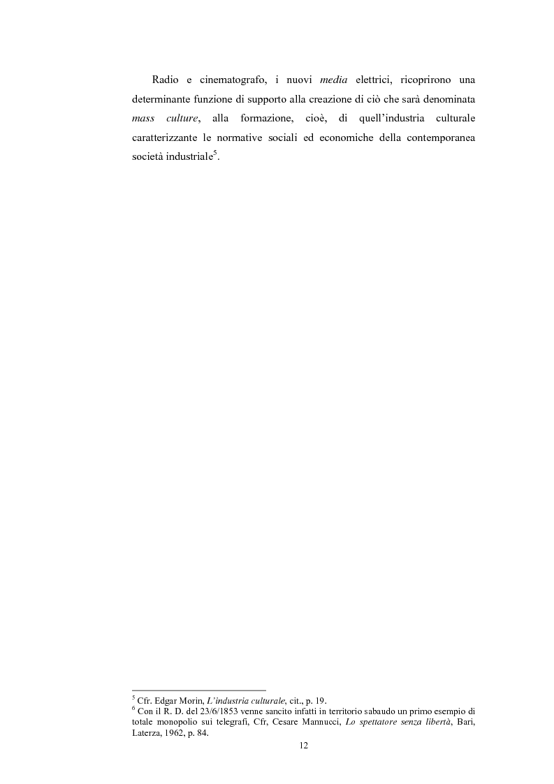Anteprima della tesi: La poesia dello spazio. Il teatro radiofonico in Italia (1924-1974), Pagina 8