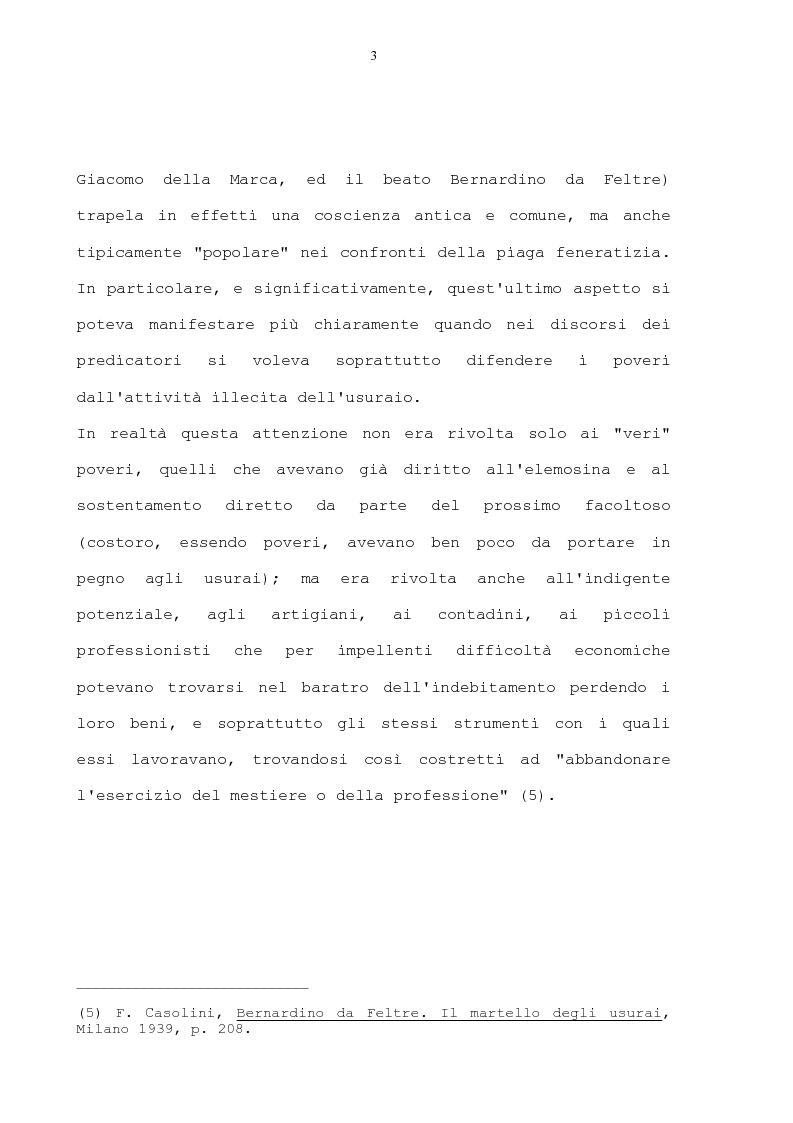 Anteprima della tesi: La condanna dell'usura in alcune prediche di S. Bernardino da Siena, di S. Giacomo della Marca e del beato Bernardino da Feltre, Pagina 3