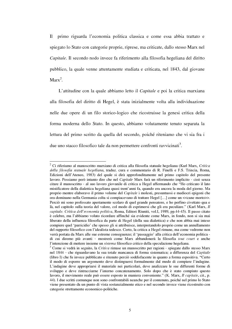 Anteprima della tesi: Il problema dello stato in Karl Marx, Pagina 2