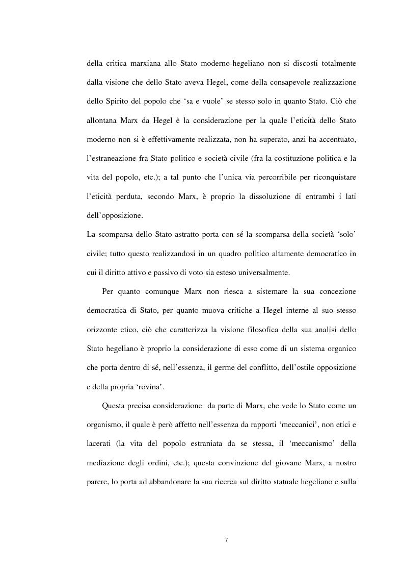 Anteprima della tesi: Il problema dello stato in Karl Marx, Pagina 4