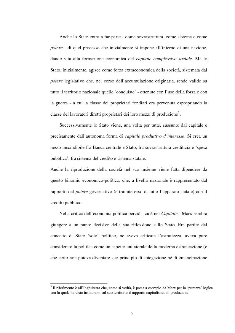 Anteprima della tesi: Il problema dello stato in Karl Marx, Pagina 6