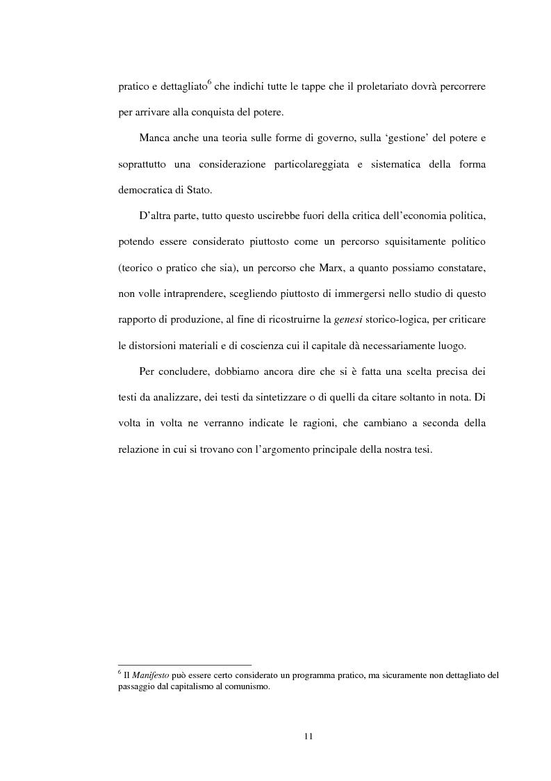 Anteprima della tesi: Il problema dello stato in Karl Marx, Pagina 8