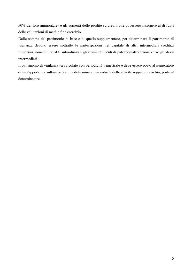 Anteprima della tesi: I rischi dell'attività bancaria (il rischio operativo) e il sistema dei controlli interni, Pagina 5