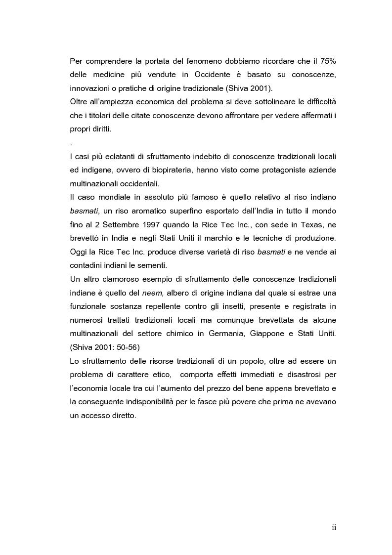 Anteprima della tesi: La brevettabilità delle conoscenze tradizionali, Pagina 2