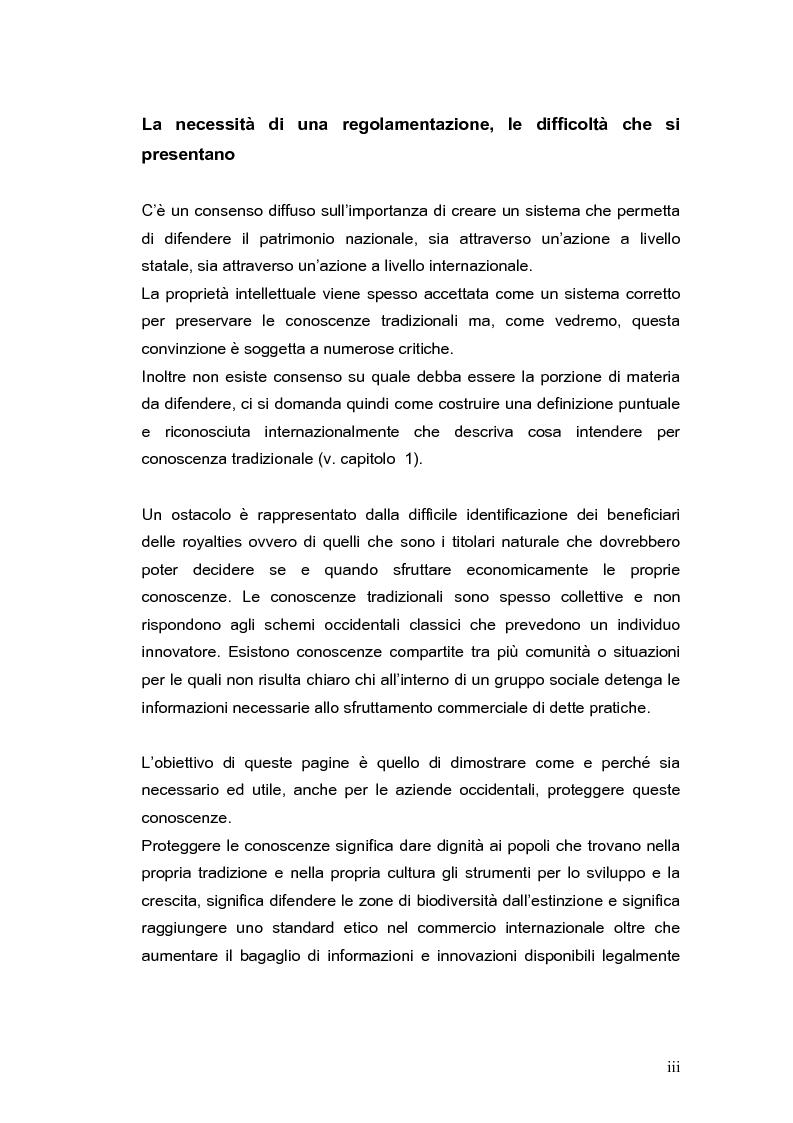 Anteprima della tesi: La brevettabilità delle conoscenze tradizionali, Pagina 3