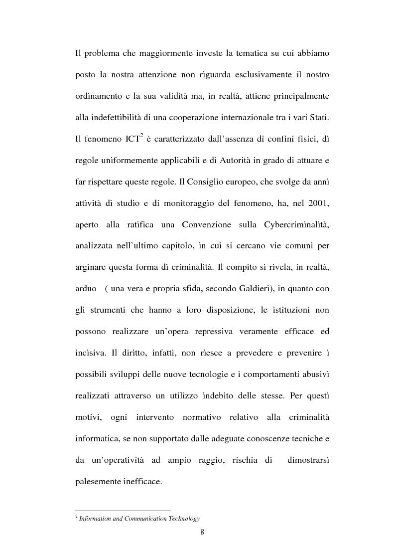Anteprima della tesi: Le offese al patrimonio mediante strumenti informatici, Pagina 5