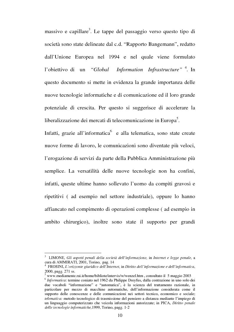Anteprima della tesi: Le offese al patrimonio mediante strumenti informatici, Pagina 7