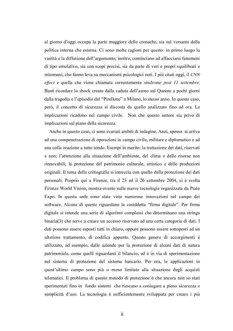 Anteprima della tesi: Crittografia come scienza in fieri: approcci alla sicurezza internazionale, Pagina 8