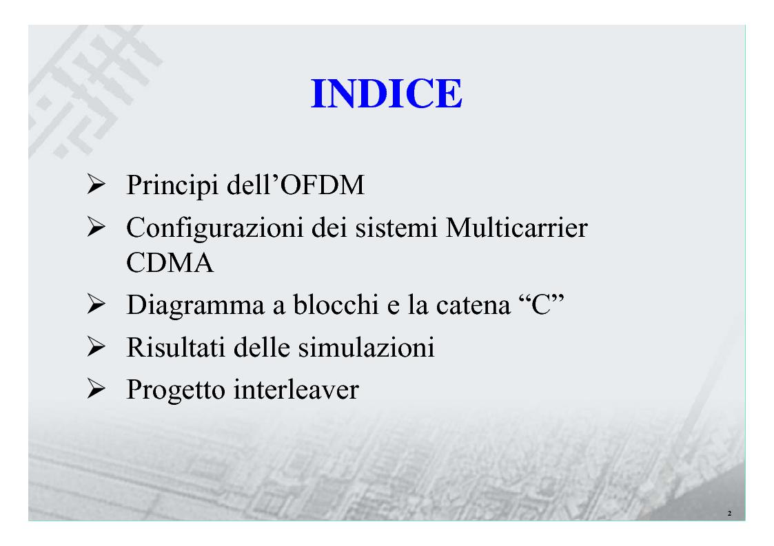 Anteprima della tesi: Sistemi Multiportante CDMA per Wireless Lan, Pagina 2