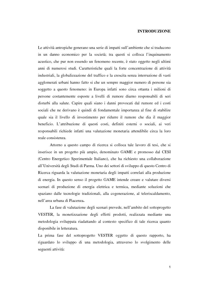 Anteprima della tesi: Valutazione economica del danno da rumore, Pagina 1