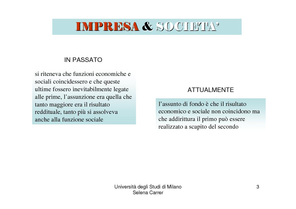 Anteprima della tesi: Economia ed etica: il bilancio sociale come manifestazione di impegno etico, Pagina 3