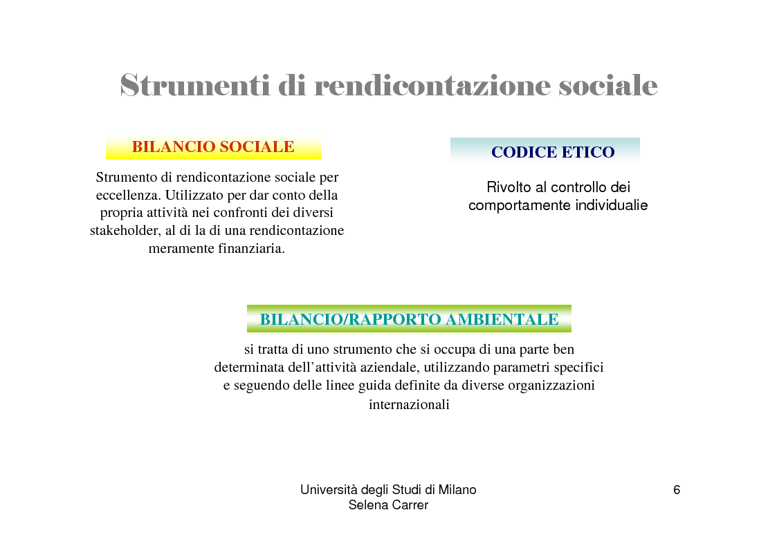 Anteprima della tesi: Economia ed etica: il bilancio sociale come manifestazione di impegno etico, Pagina 6