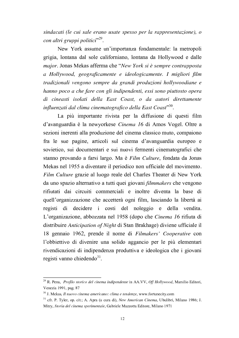 Anteprima della tesi: Il cinema americano e la controcultura fra gli anni '50 e gli anni '70, Pagina 10