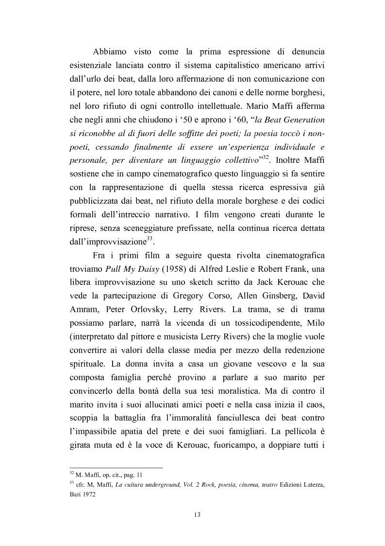Anteprima della tesi: Il cinema americano e la controcultura fra gli anni '50 e gli anni '70, Pagina 11