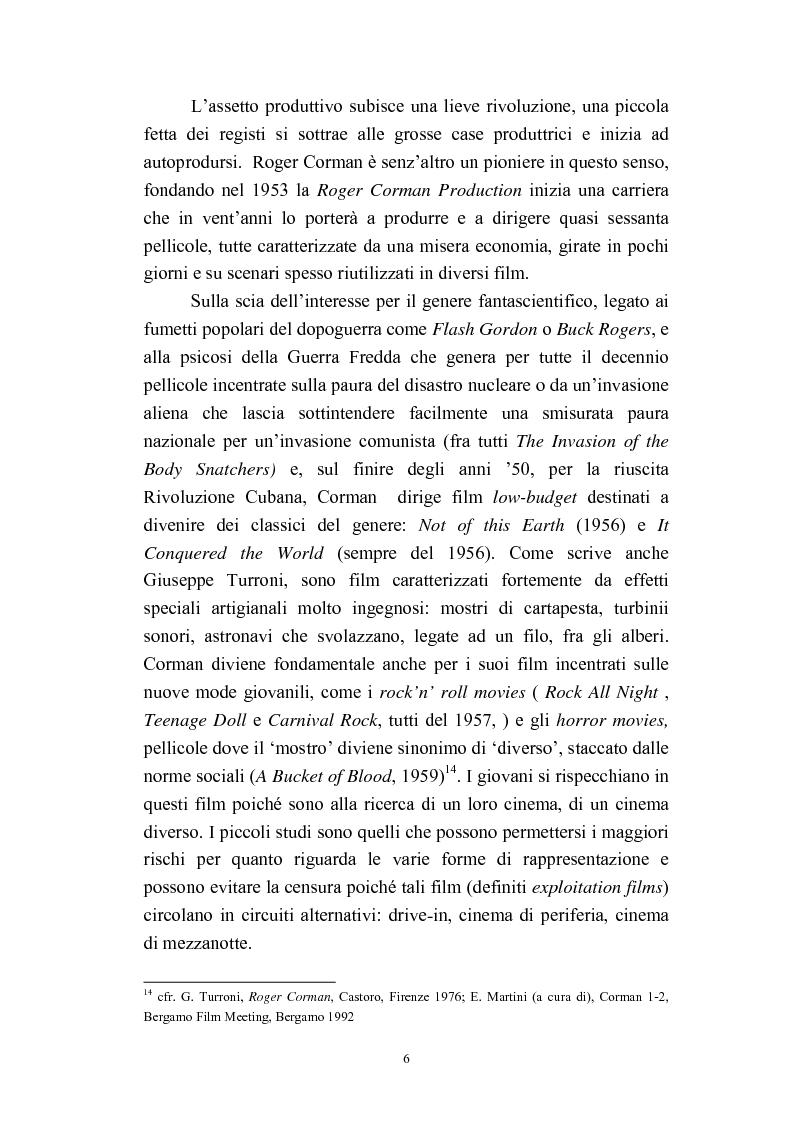 Anteprima della tesi: Il cinema americano e la controcultura fra gli anni '50 e gli anni '70, Pagina 4