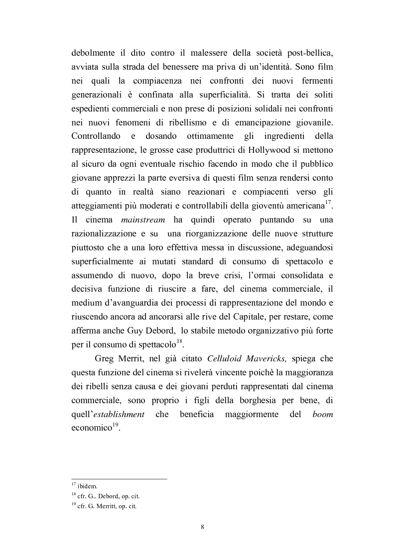 Anteprima della tesi: Il cinema americano e la controcultura fra gli anni '50 e gli anni '70, Pagina 6