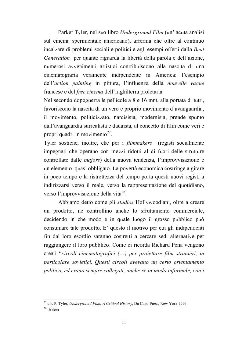 Anteprima della tesi: Il cinema americano e la controcultura fra gli anni '50 e gli anni '70, Pagina 9