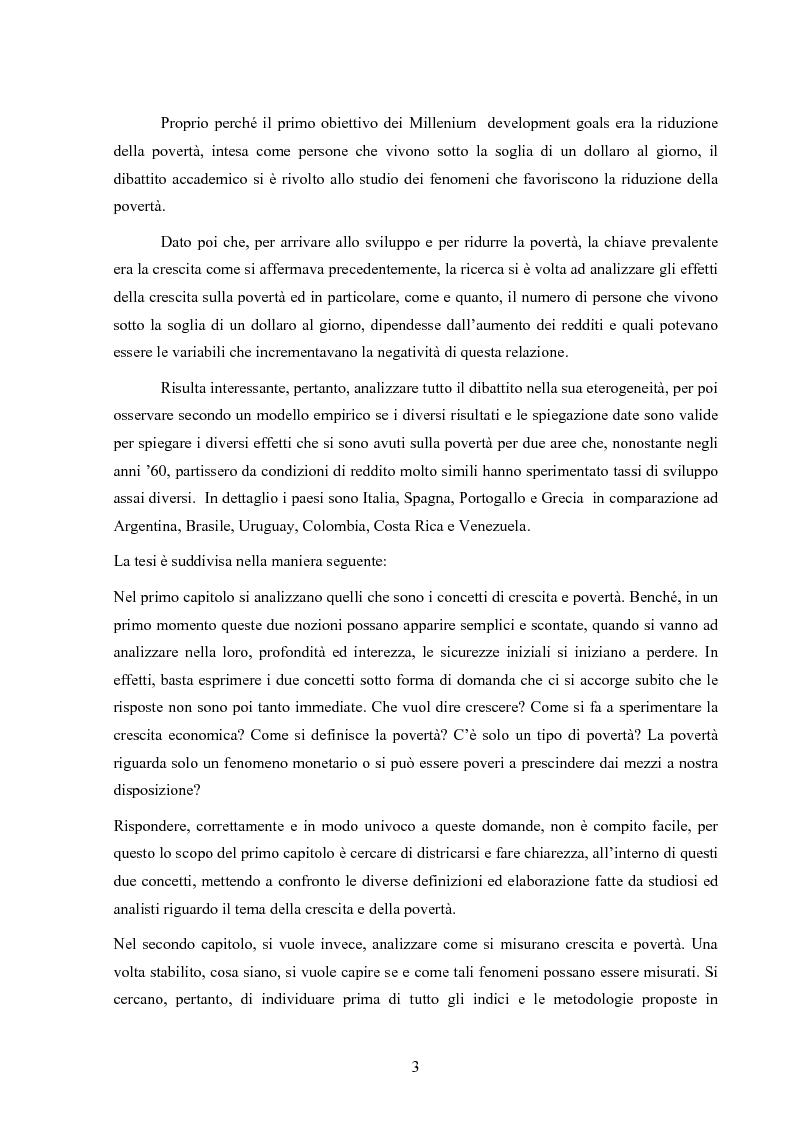 Anteprima della tesi: Crescita e povertà: un'analisi empirica per i paesi latinoamericani, Pagina 3