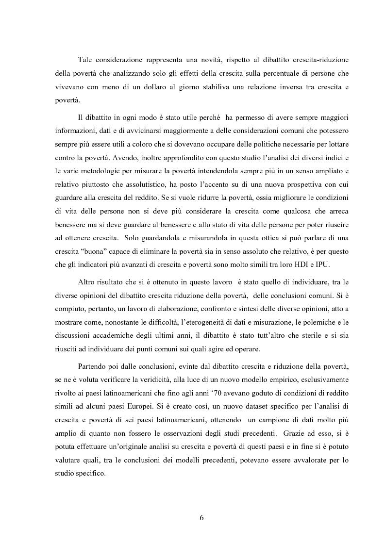 Anteprima della tesi: Crescita e povertà: un'analisi empirica per i paesi latinoamericani, Pagina 6