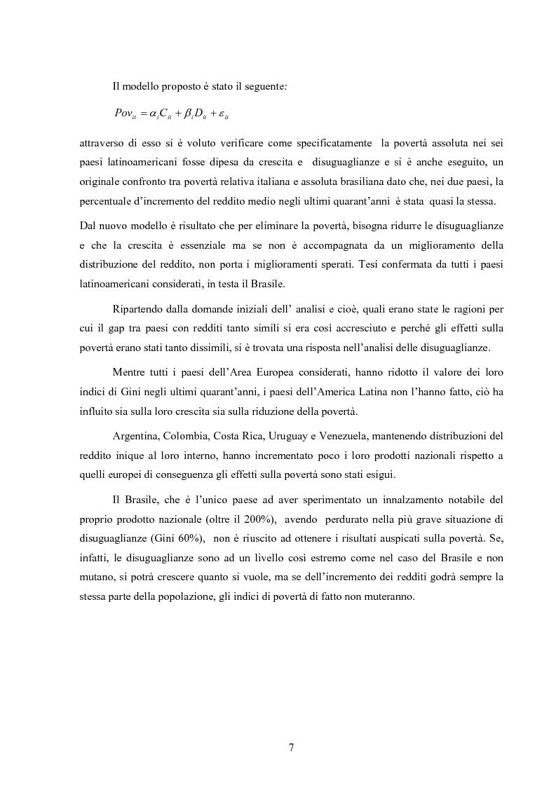Anteprima della tesi: Crescita e povertà: un'analisi empirica per i paesi latinoamericani, Pagina 7