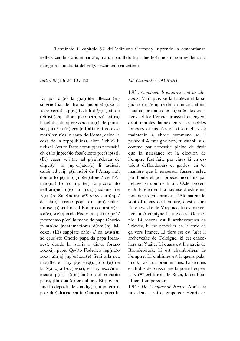Anteprima della tesi: Brunetto Latini - ''Tresor'' - Volgarizzamento di Bono Giamboni - Adattamento salentino, Pagina 11