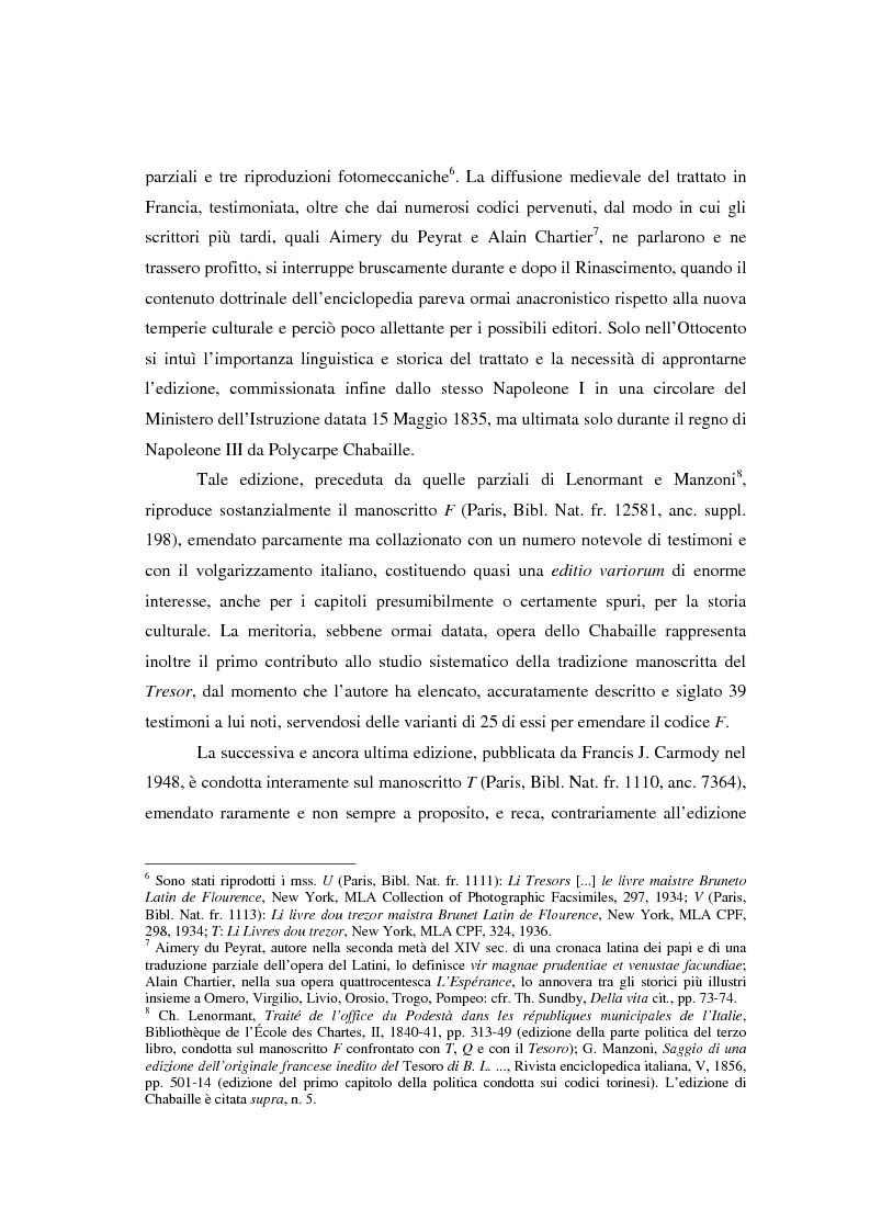 Anteprima della tesi: Brunetto Latini - ''Tresor'' - Volgarizzamento di Bono Giamboni - Adattamento salentino, Pagina 4
