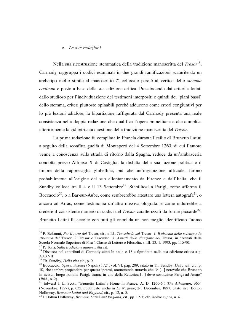 Anteprima della tesi: Brunetto Latini - ''Tresor'' - Volgarizzamento di Bono Giamboni - Adattamento salentino, Pagina 6