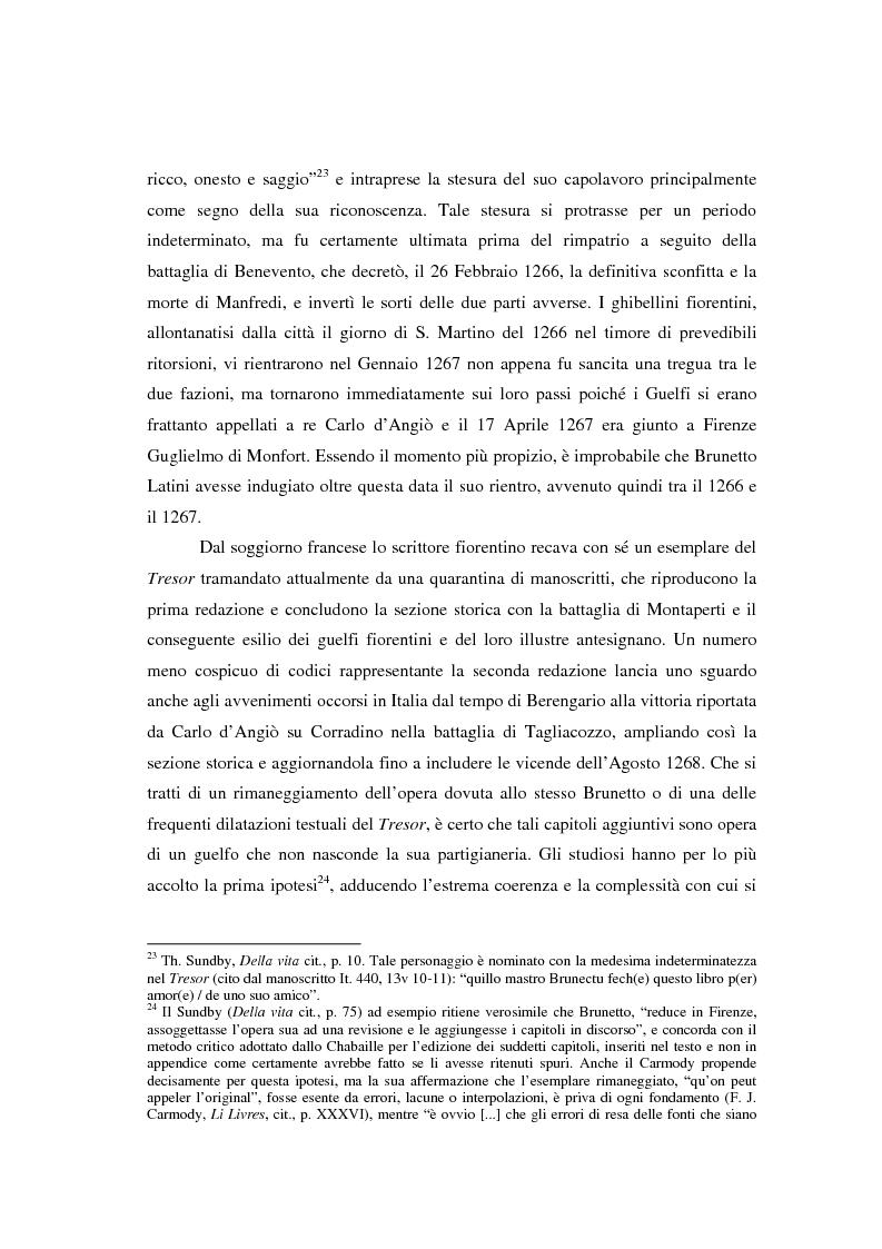 Anteprima della tesi: Brunetto Latini - ''Tresor'' - Volgarizzamento di Bono Giamboni - Adattamento salentino, Pagina 7