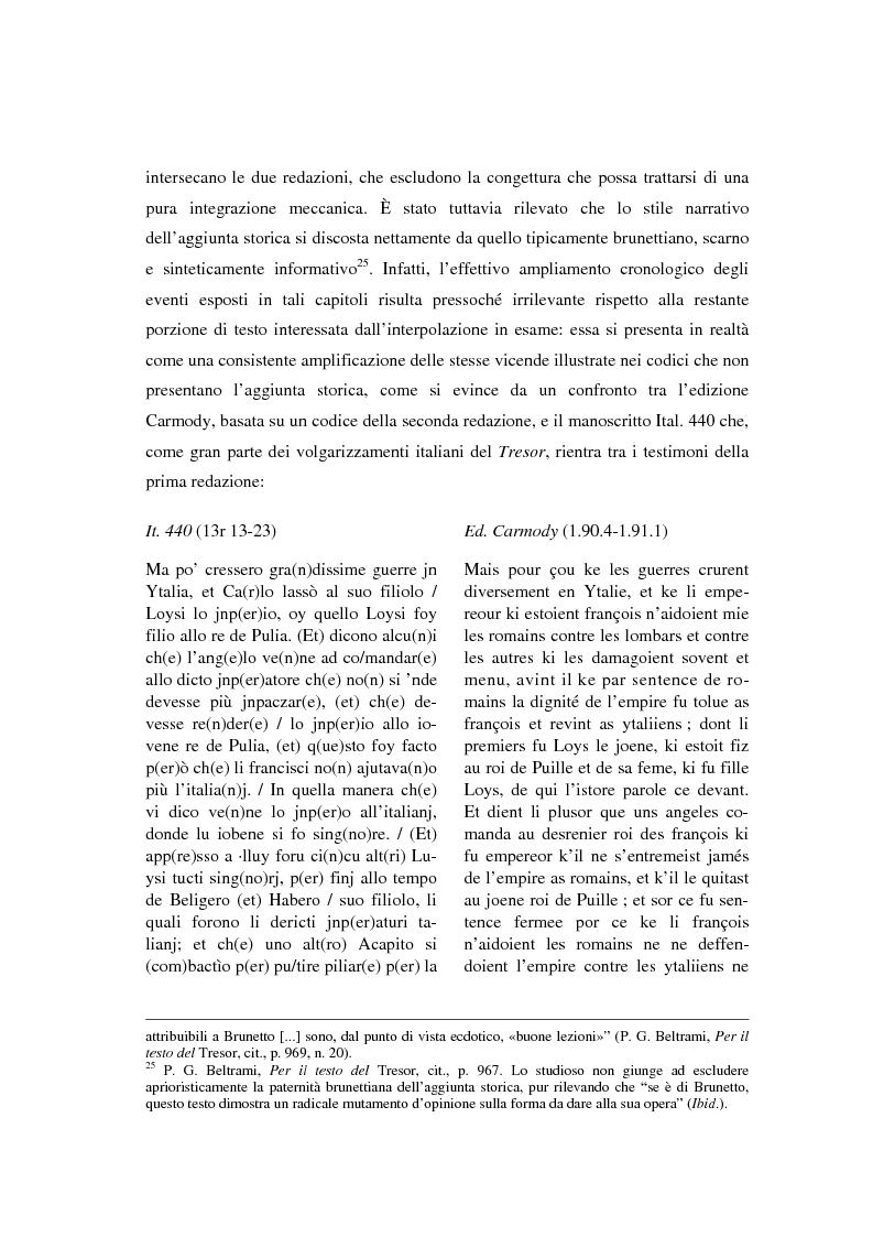 Anteprima della tesi: Brunetto Latini - ''Tresor'' - Volgarizzamento di Bono Giamboni - Adattamento salentino, Pagina 8