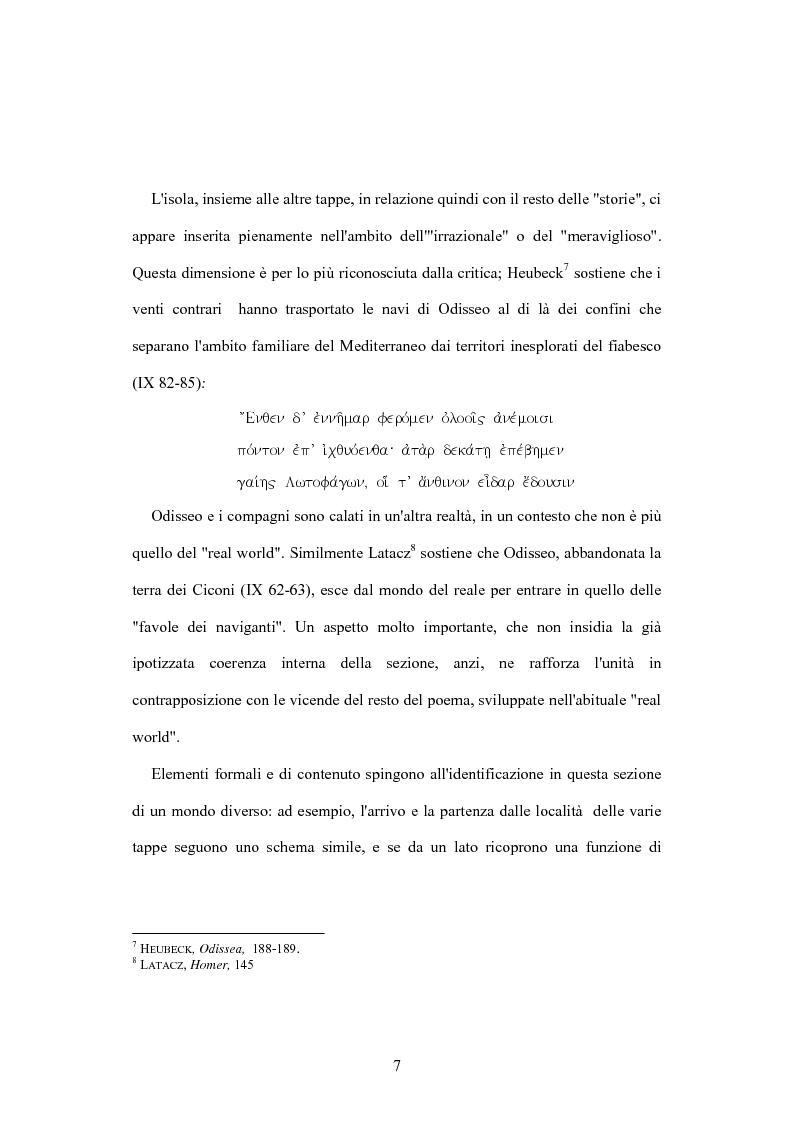 Anteprima della tesi: Polifemo e l'Età dell'Oro: variazione di un tema da Omero a Platone, Pagina 7