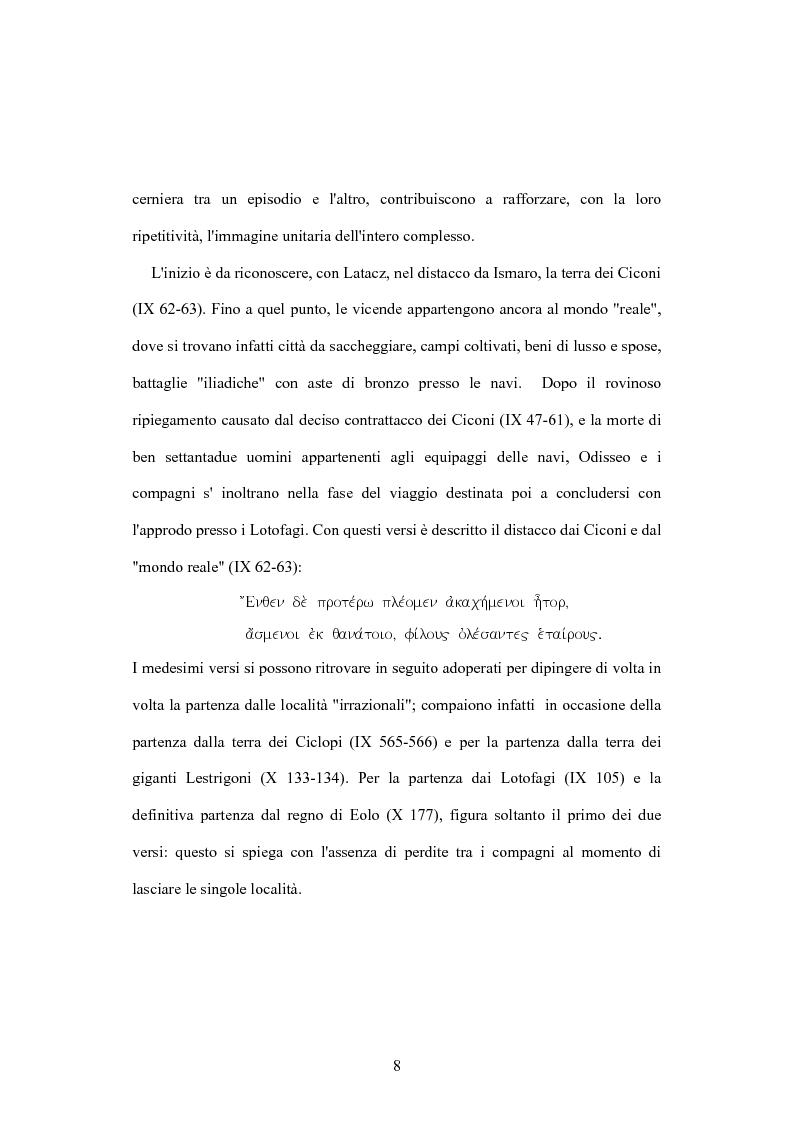 Anteprima della tesi: Polifemo e l'Età dell'Oro: variazione di un tema da Omero a Platone, Pagina 8