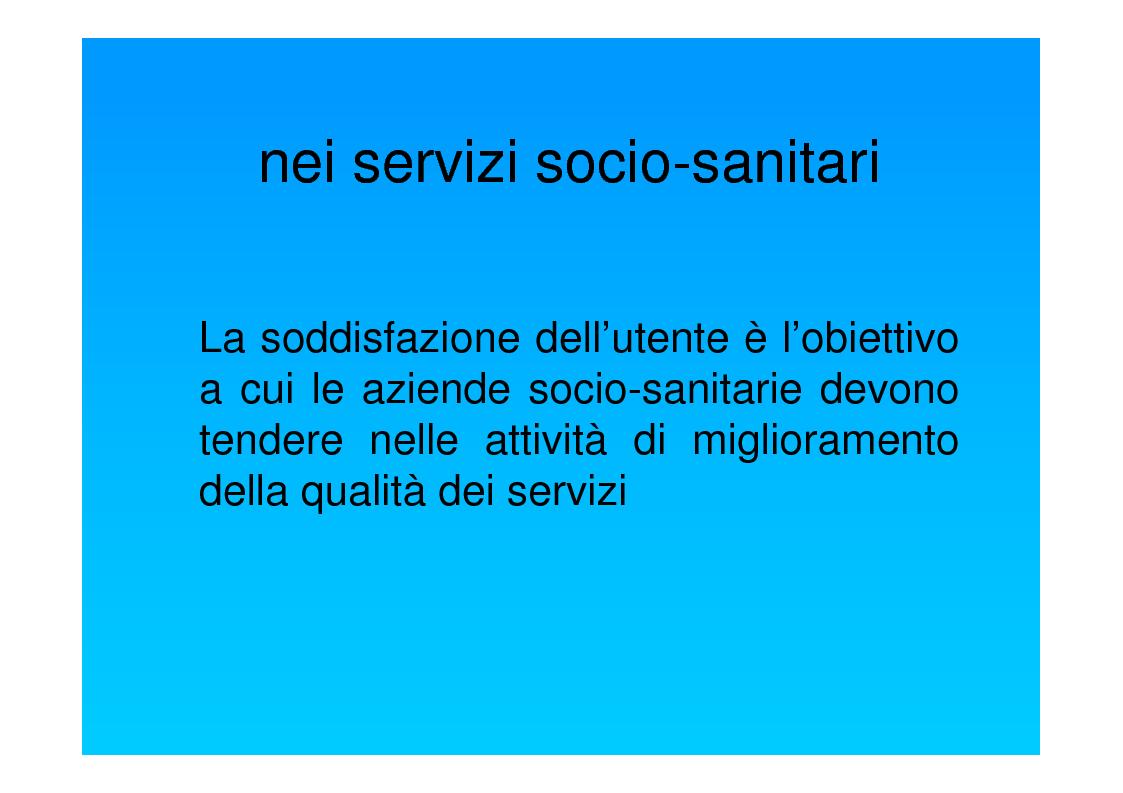 Anteprima della tesi: Dal punto di vista del paziente. La customer satisfaction nei servizi socio-sanitari, Pagina 3