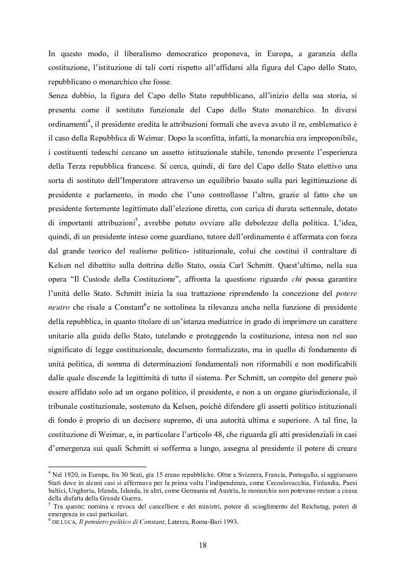 Anteprima della tesi: Tipologia degli atti del Presidente della Repubblica nell'ordinamento costituzionale italiano, Pagina 11