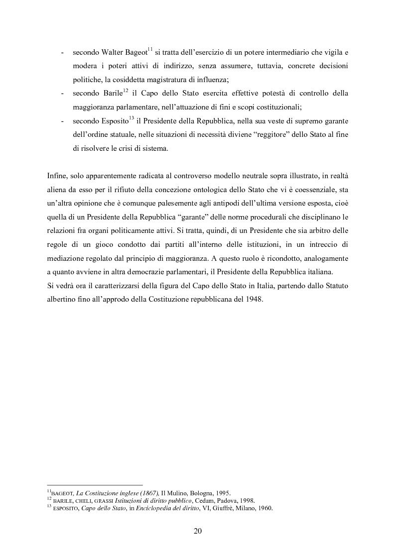 Anteprima della tesi: Tipologia degli atti del Presidente della Repubblica nell'ordinamento costituzionale italiano, Pagina 13