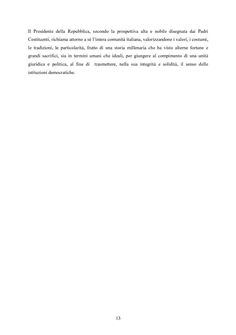 Anteprima della tesi: Tipologia degli atti del Presidente della Repubblica nell'ordinamento costituzionale italiano, Pagina 6