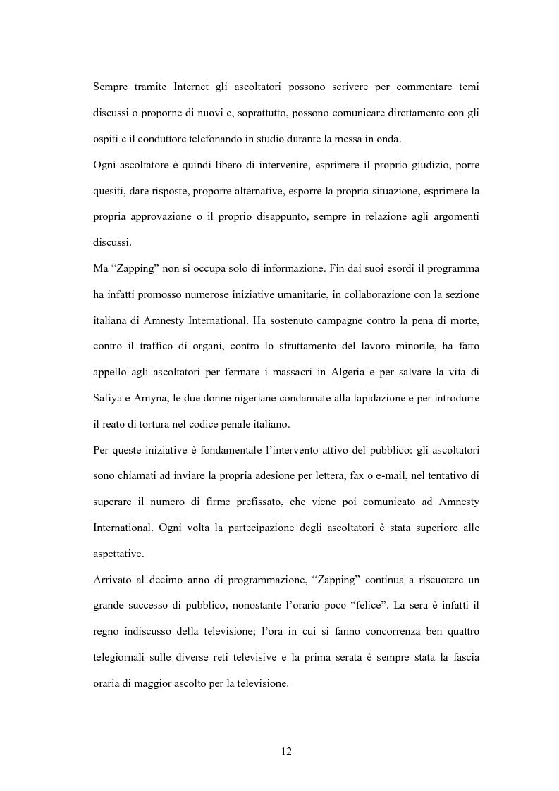 Anteprima della tesi: L'informazione alla radio e la novità di ''zapping'' nel panorama radiofonico italiano, Pagina 12