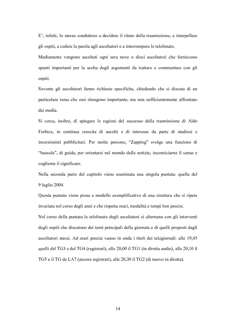 Anteprima della tesi: L'informazione alla radio e la novità di ''zapping'' nel panorama radiofonico italiano, Pagina 14