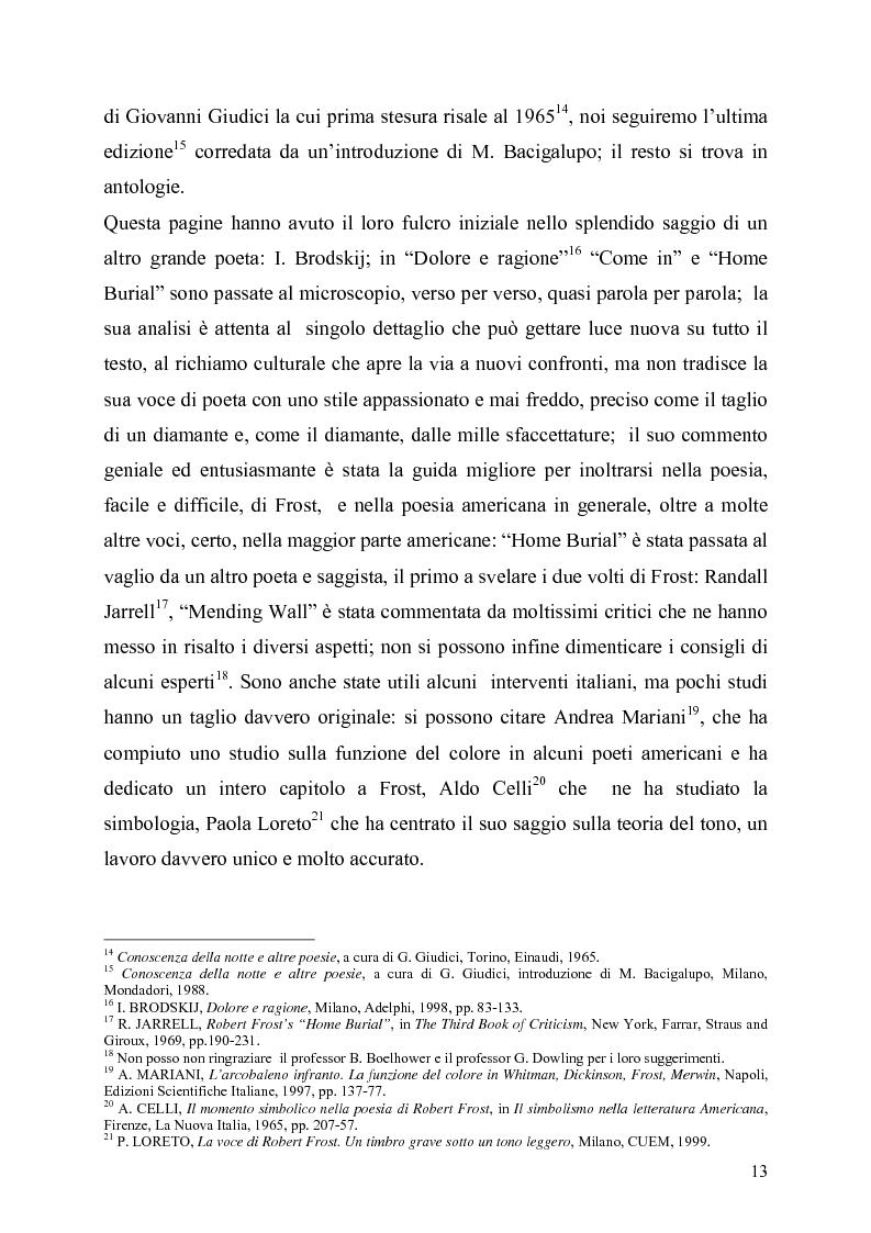 Anteprima della tesi: La poetica del confine.Tre poesie tradotte di Robert Frost, Pagina 11
