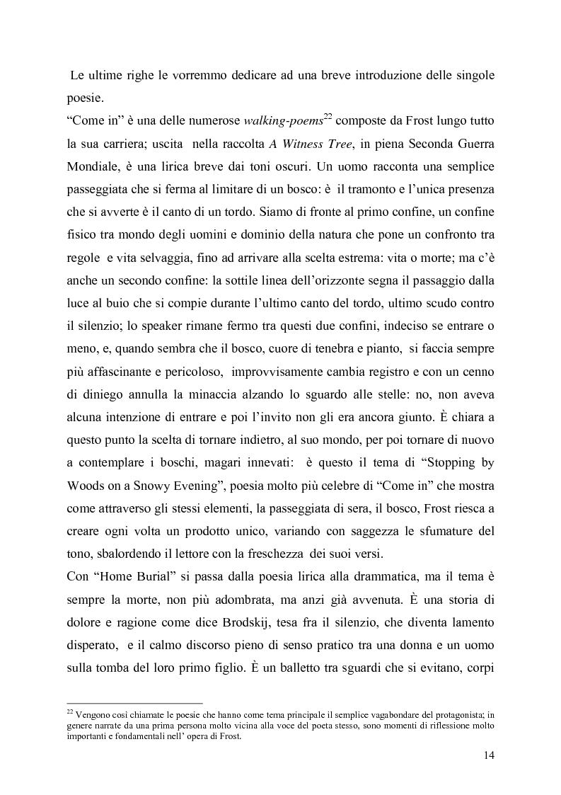 Anteprima della tesi: La poetica del confine.Tre poesie tradotte di Robert Frost, Pagina 12
