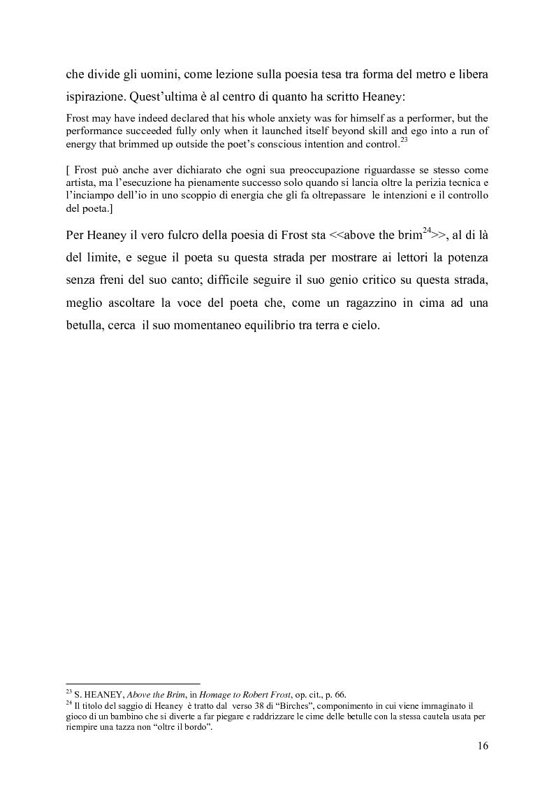 Anteprima della tesi: La poetica del confine.Tre poesie tradotte di Robert Frost, Pagina 14