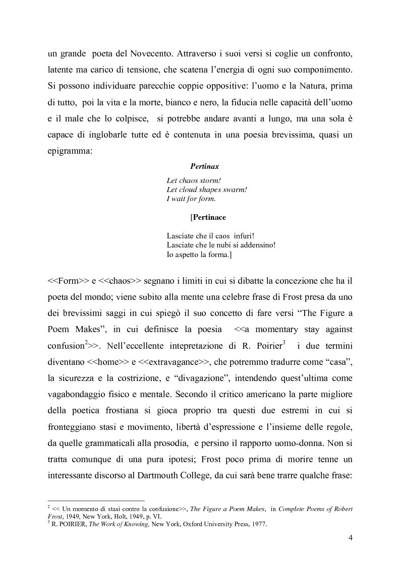 Anteprima della tesi: La poetica del confine.Tre poesie tradotte di Robert Frost, Pagina 2