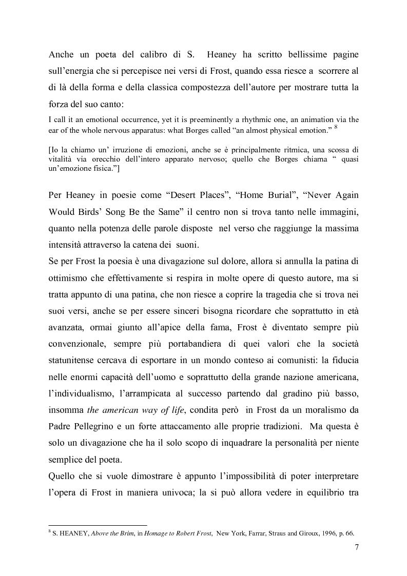 Anteprima della tesi: La poetica del confine.Tre poesie tradotte di Robert Frost, Pagina 5