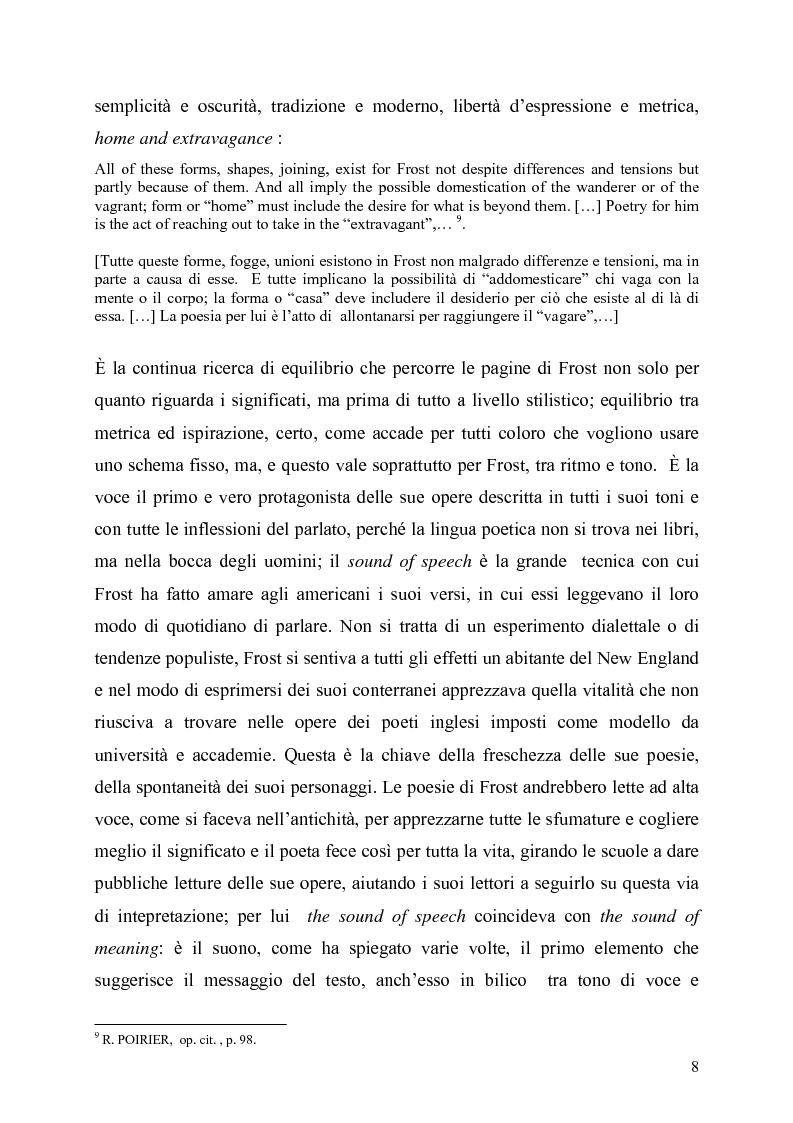 Anteprima della tesi: La poetica del confine.Tre poesie tradotte di Robert Frost, Pagina 6