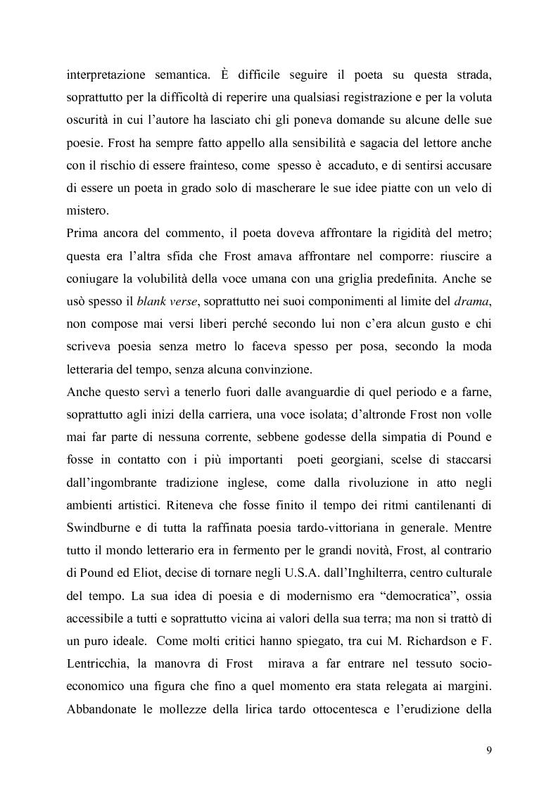 Anteprima della tesi: La poetica del confine.Tre poesie tradotte di Robert Frost, Pagina 7