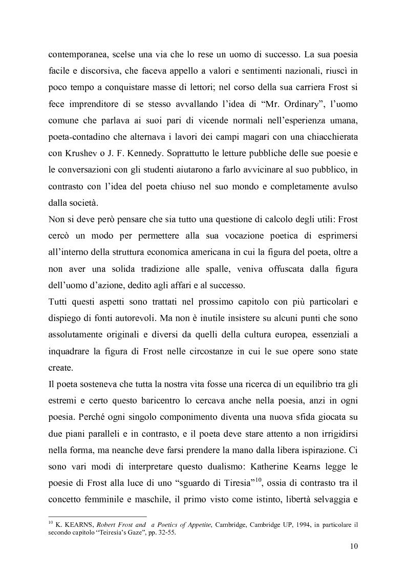 Anteprima della tesi: La poetica del confine.Tre poesie tradotte di Robert Frost, Pagina 8