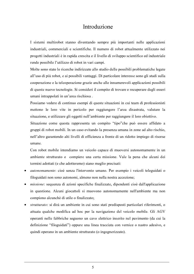 Anteprima della tesi: Controllo cinematico di un plotone di veicoli autonomi, Pagina 1