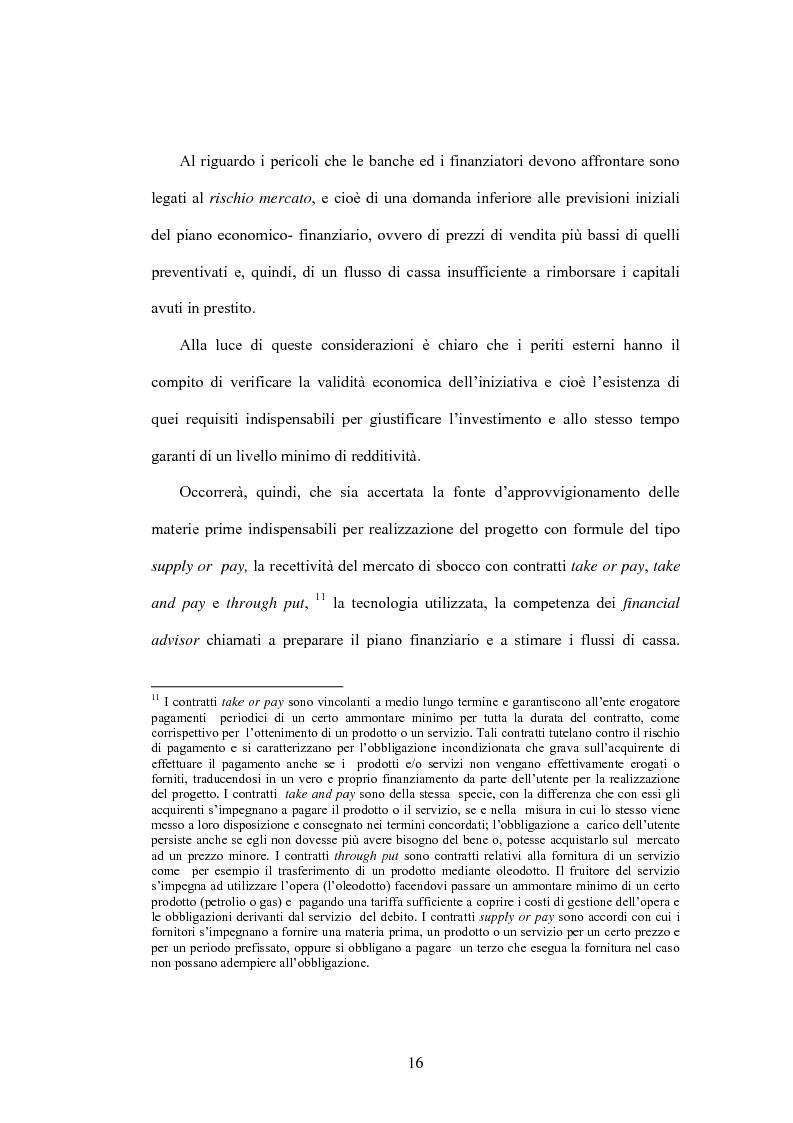 Anteprima della tesi: Il project financing: la realizzazione delle grandi opere infrastrutturali, Pagina 14