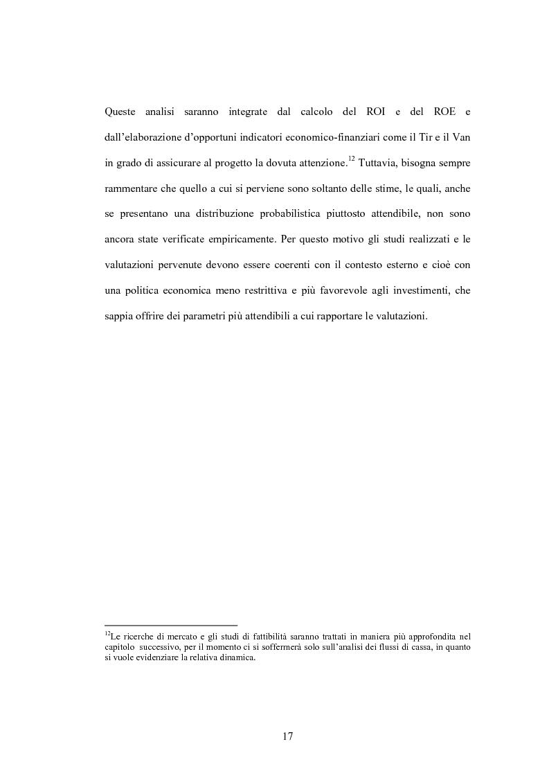 Anteprima della tesi: Il project financing: la realizzazione delle grandi opere infrastrutturali, Pagina 15