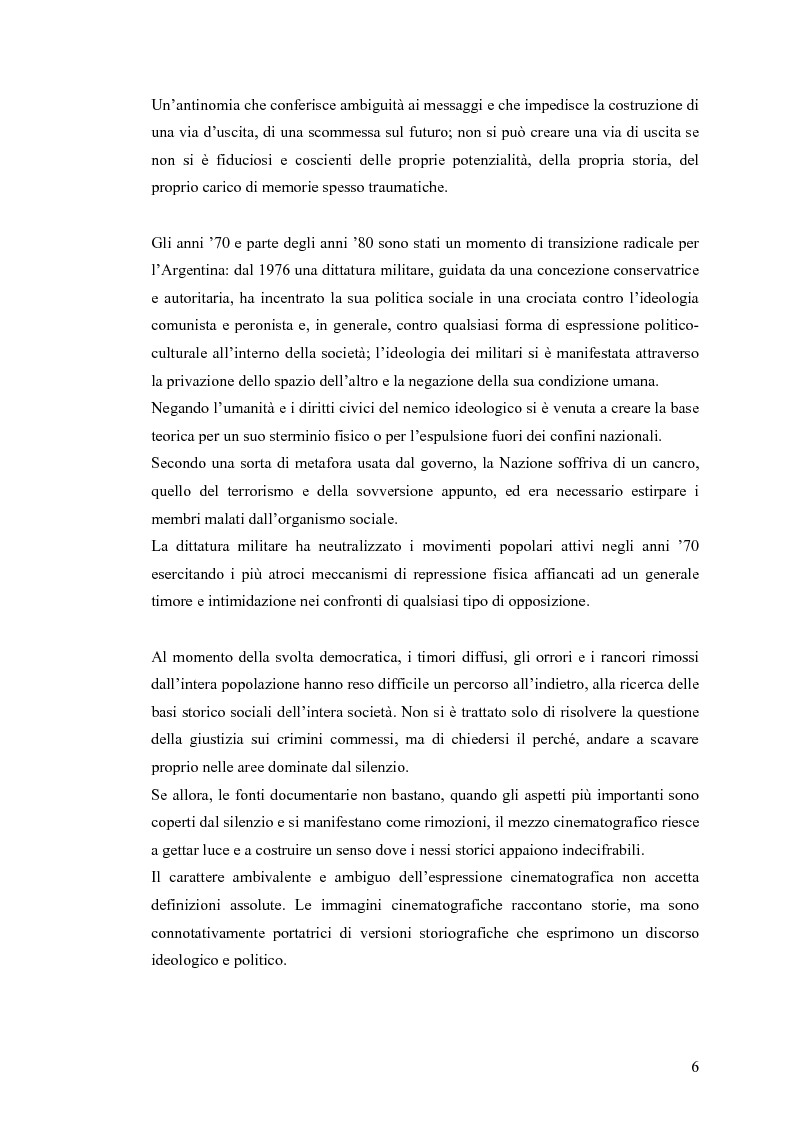 Anteprima della tesi: Argentina: la storia attraverso la macchina da presa, Pagina 2